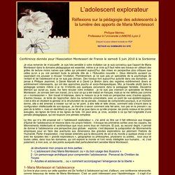 L'adolescent explorateur