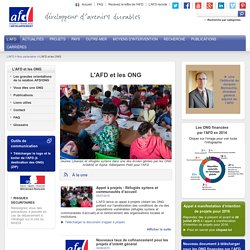 L'AFD et les ONG