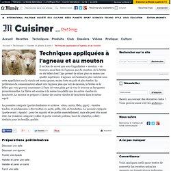 L'agneau - Techniques appliquées à l'agneau