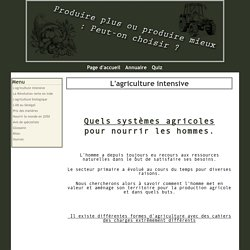 L'agriculture intensive