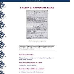 L'album di Antoinette Faure