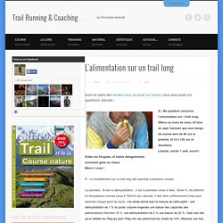 Trail long : comment s'alimenter