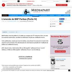 L'amende de BNP Paribas [Partie IV]