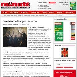 L'amnésie de François Hollande