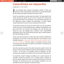 L'anarchisme est impossible