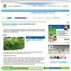 Herbes aromatiques : leurs bienfaits santé