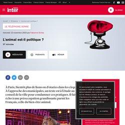 FRANCE INTER 13/11/19 LE TELEPHONE SONNE - L'animal est-il politique ?