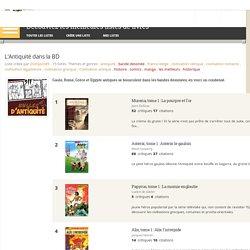 L'Antiquité dans la BD - Liste de 15 livres