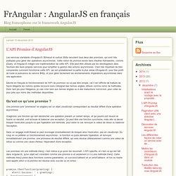 L'API Promise d'AngularJS