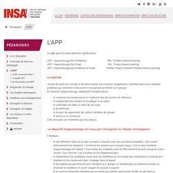 INSA méthode APP