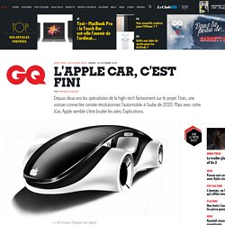 L'Apple Car, c'est fini