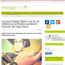 L'Apple Watch a-t-elle peur de Pebble ?