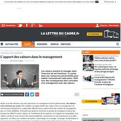 L'apport des valeurs dans le management