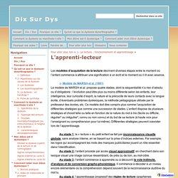 L'apprenti-lecteur - Dix Sur Dys