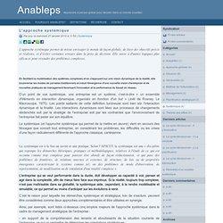L'approche systémique - Anableps