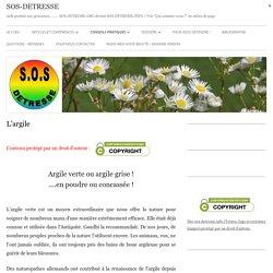 L'argile - SOS-DETRESSE