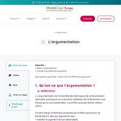 L'argumentation - Maxicours