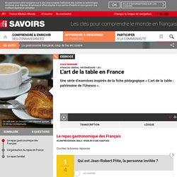 L'art de la table en France