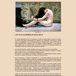 L'Art du nu au XIXe siècle