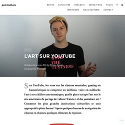 L'art sur YouTube – pointculture