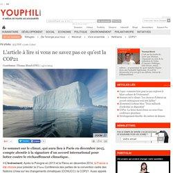 L'article à lire si vous ne savez pas ce qu'est la COP21