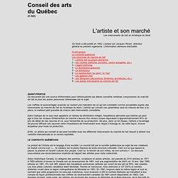 L'artiste et son marché