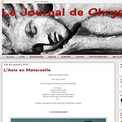 Le Journal de Chrys: L'Asie en Maternelle