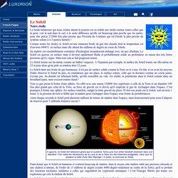 Soleil - L'astronomie enseignée aux enfants