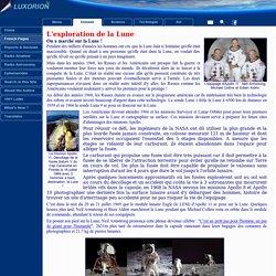 L'exploration de la Lune - L'astronomie enseignée aux enfants