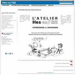 L'ATELIER HES-SO Valais Wallis - HES-SO Valais Wallis