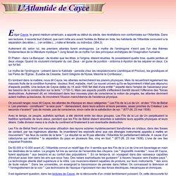 L'Atlantide de Cayce