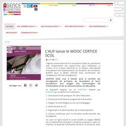 L'AUF lance le MOOC CERTICE SCOL - AUF