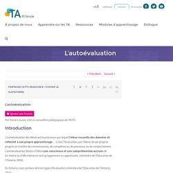 L'autoévaluation - TA@l'école