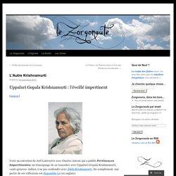 L'Autre Krishnamurti