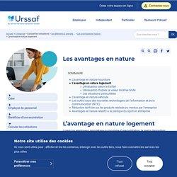 L'avantage en nature logement - Urssaf.fr