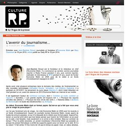 L'avenir du journalisme…