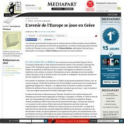 L'avenir de l'Europe se joue en Grèce