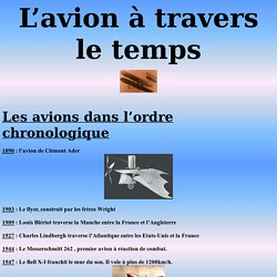 L'avion à travers le temps