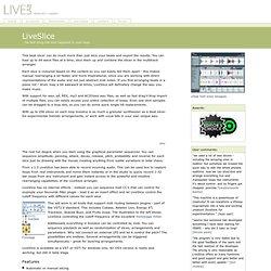 L i v e l a b . d k - Products - LiveSlice