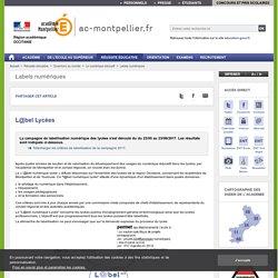 L@bel Lycées - ac-montpellier