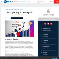 MOOC : L'éco, pour qui, pour quoi ?