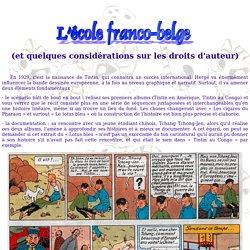 L'école franco-belge en BD