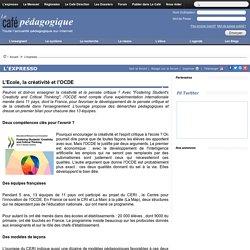 L'Ecole, la créativité et l'OCDE