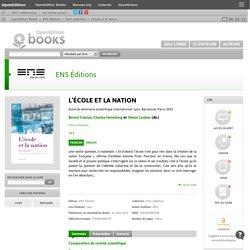 L'école et la nation - ENS Éditions