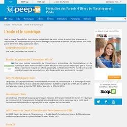 L'école et le numérique - PEEP