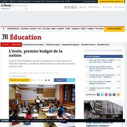 L'école, premier budget de la nation
