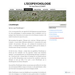 L'ECOPSYCHOLOGIE