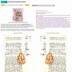 L'écriture de Léonard de Vinci