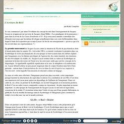 L'écriture du Réel - le blog cripsa