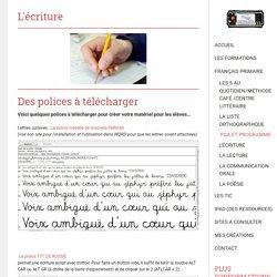 L'écriture - Site de espacecp !